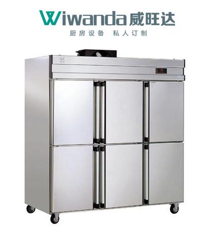 天津威旺达厨房设备六门冰柜